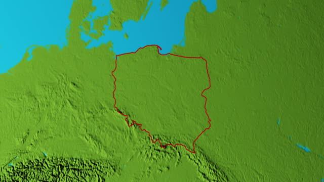 Erde mit Grenzen Polens Grafik – Video