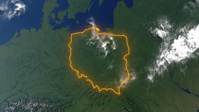 Erde mit Polen – Video