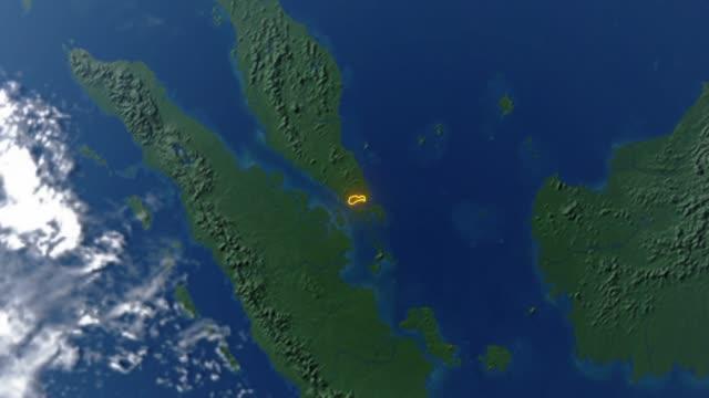 Erde mit Grenzen von Singapur – Video