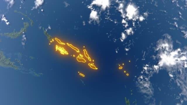 Erde mit den Grenzen der Salomonen – Video