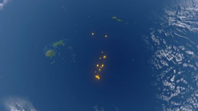Erde mit Grenzen von Tonga – Video