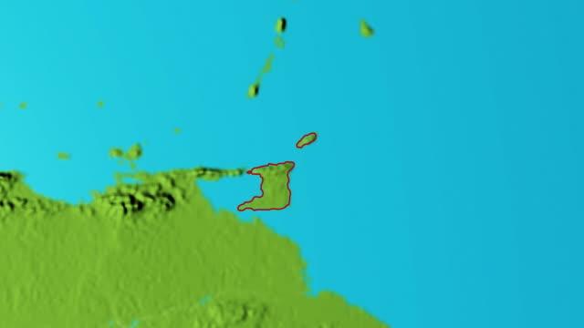 Erde mit Grenzen von Trinidad und Tobago Grafik – Video