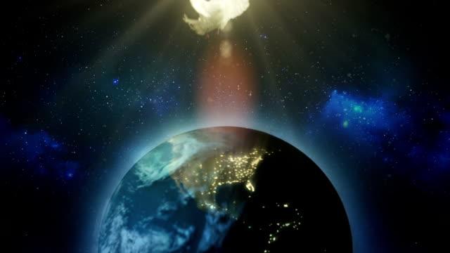jord med duva - earth from space bildbanksvideor och videomaterial från bakom kulisserna