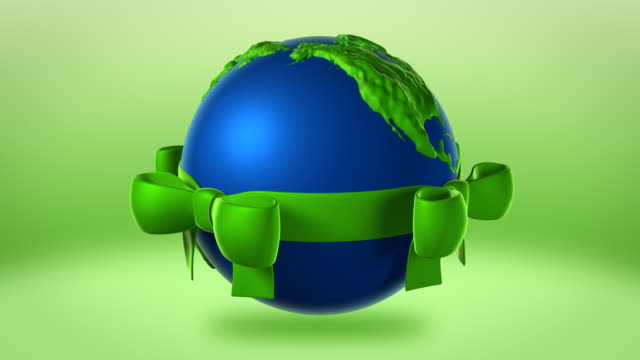 Earth with Green Ribbon video