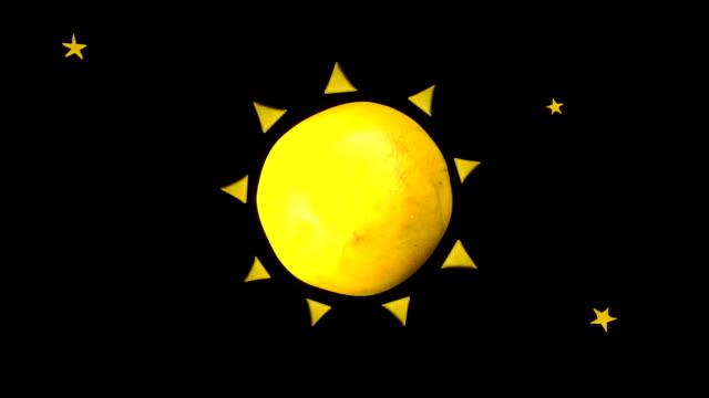 Earth with Moon orbit the Sun video