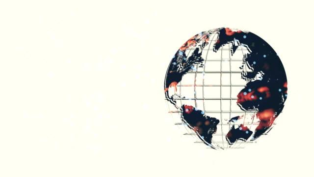 earth världskarta made in computer graphics ren render - kontrastrik bildbanksvideor och videomaterial från bakom kulisserna