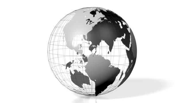 3D Earth - world map video