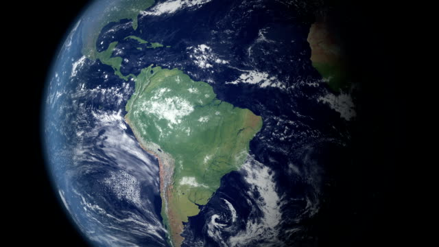 Earth zoom centered on Brazil  (with alpha matte) View on the globe. Zooming in on South America and on Brazil.  brazil stock videos & royalty-free footage