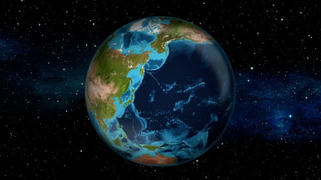 stockvideo's en b-roll-footage met earth inzoomen - japan - tokyo - tokio kanto
