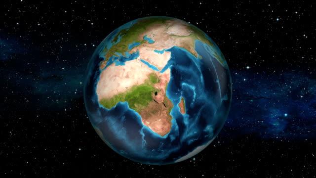 Earth Zoom In - São Tomé and Príncipe São Tomé and Príncipe zoom in from space. equator line stock videos & royalty-free footage