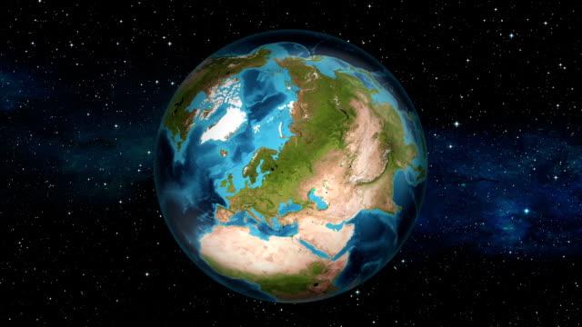 Earth Zoom In - Sweden - Stockholm video