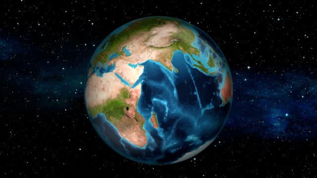 Earth Zoom In - Uganda - Kampala video