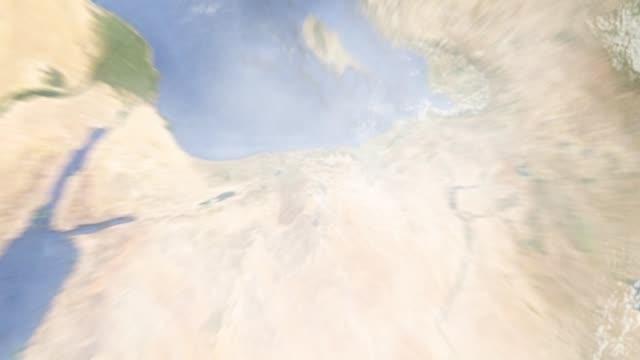 dünyayı yakınlaştırmak şam 'ın suriye 'yi uzaklaştırmak - optik yaklaştırma stok videoları ve detay görüntü çekimi
