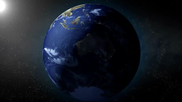 Earth zoom on Australia video