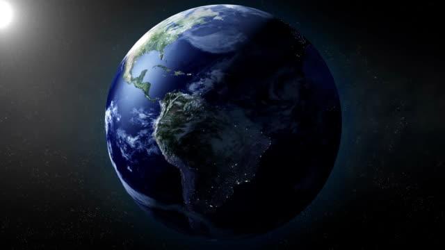 vídeos y material grabado en eventos de stock de earth zoom para américa del sur - norte