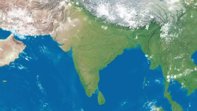 earth zoom to india - india video stock e b–roll