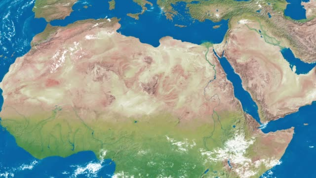zoom terrestre in nord africa - libia video stock e b–roll
