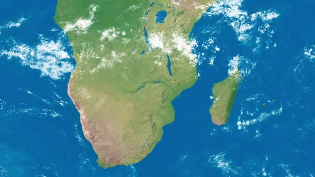 Earth Zoom to South Africa An Earth zoom satellite view to South Africa and surrounding countries. madagascar stock videos & royalty-free footage