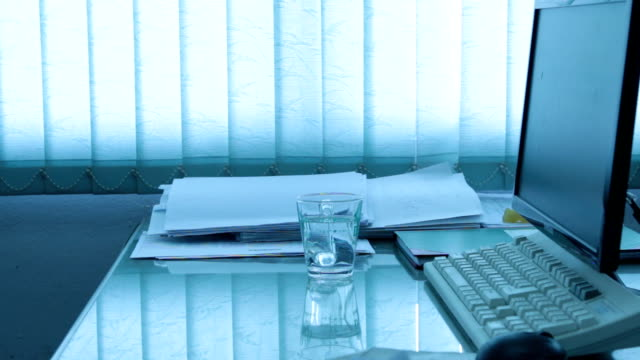 earthquake in office water ripple in a glass shake from earthquake in an office  earthquake stock videos & royalty-free footage