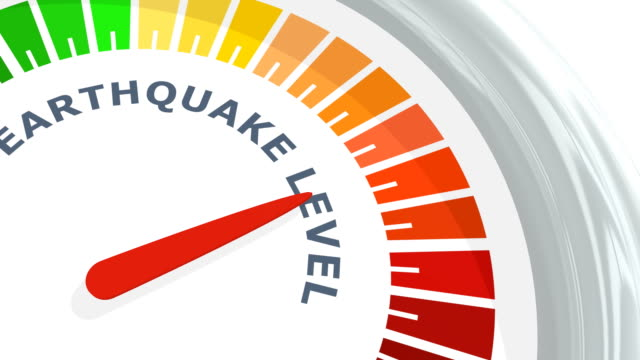 earthquake magnitude level - geografia fisica video stock e b–roll