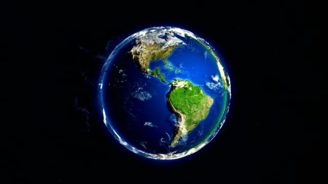 Earth's rotation loop 4K video