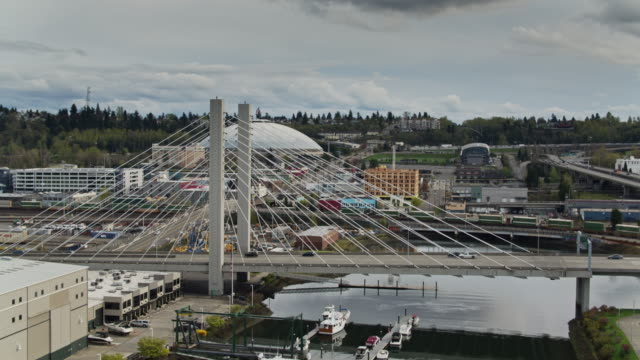 East 21st Street Bridge Over Thea Foss Waterway, Tacoma - Aerial View