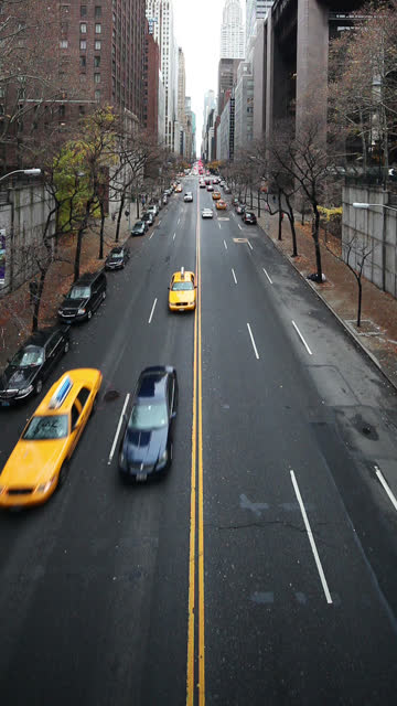 east 42nd street traffic - vertical format video stock videos and b-roll footage