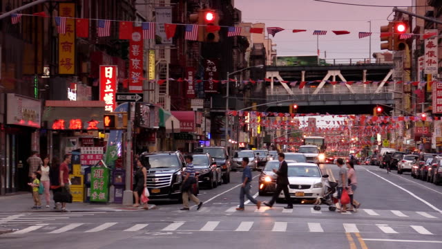 East Broadway Chinatown in New York City video