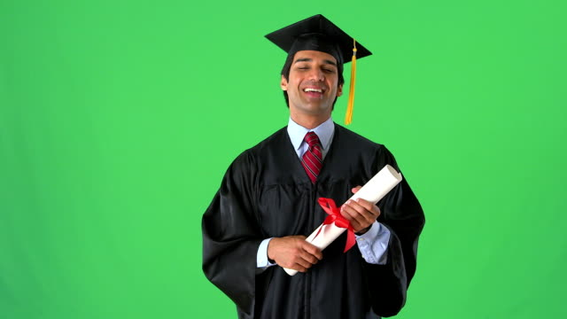 East Indian college graduate on greenscreen East Indian college graduate on greenscreen diploma stock videos & royalty-free footage