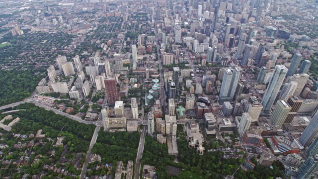 AERIAL East part of the Downtown Toronto, Ontario