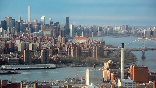 East River At Dusk NYC video