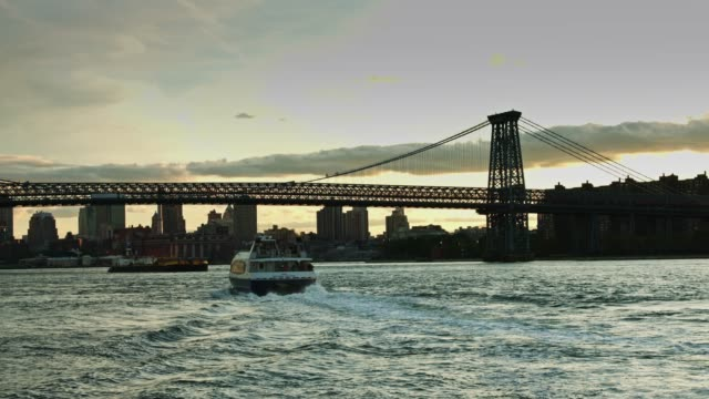 East River Ferry at Sunset video