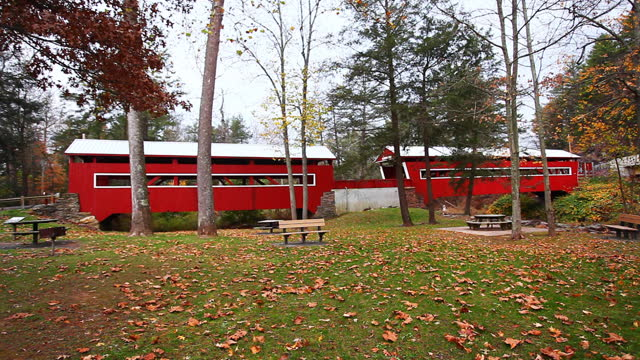 East & West Paden Covered Bridges in Pennsylvania, United States video
