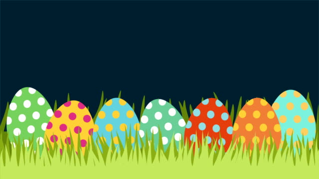 ostern-hintergrund, video animation - frohe ostern stock-videos und b-roll-filmmaterial