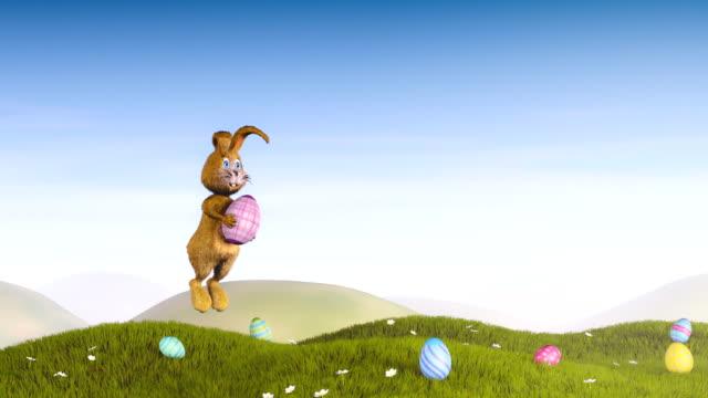 イースターのウサギと卵の装飾 ビデオ