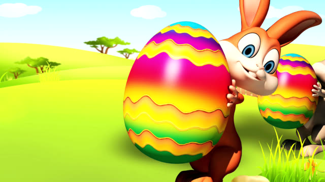 Easter bunny with Egg video