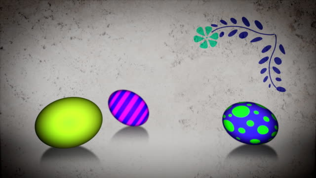 Easter eggs rolling