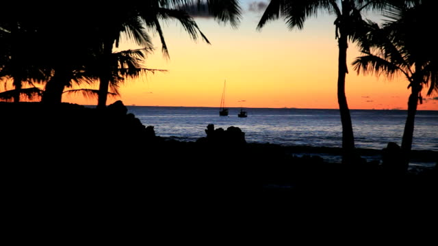 Easter Island Tropical Beach Sunset, Chile video