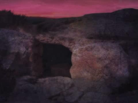 vídeos de stock e filmes b-roll de páscoa manhã túmulo - cristo redentor