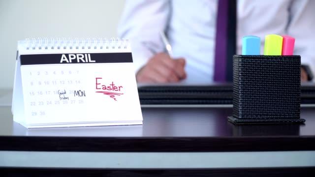 påsk - speciella dagar - calendar workout bildbanksvideor och videomaterial från bakom kulisserna