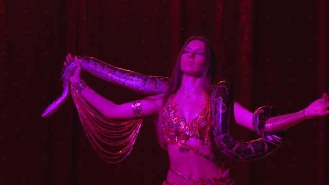 Eastern dancer with boa video