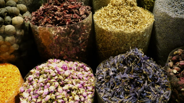 eastern market with spices in uae. - souk video stock e b–roll
