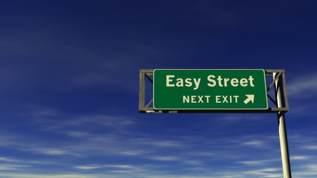 Easy Street - Freeway Exit Sign  effortless stock videos & royalty-free footage