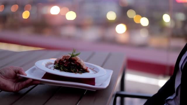 Eating at restaurant video