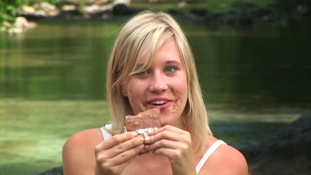 HD: Eating Chocolate By The River video