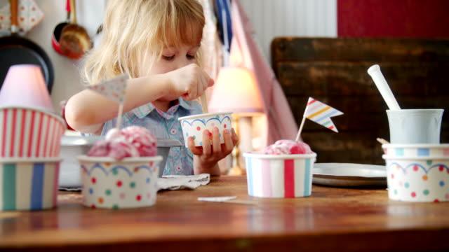 Eating Homemade Strawberry Ice Cream video