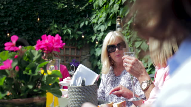 Eating in the Garden with Friends video