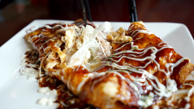 CU Eating Okonomiyaki, Japanese Pizza or Pancake