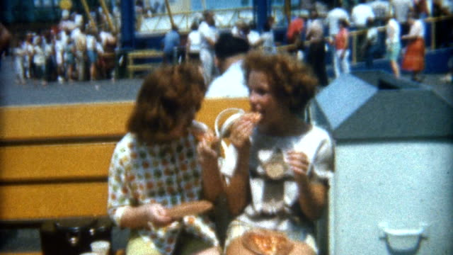 eating pizza 1960's - italian food stock videos & royalty-free footage