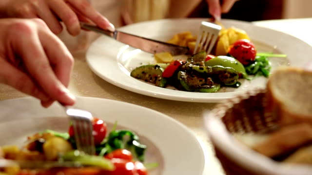Eating Dinning. healthy lifestyle stock videos & royalty-free footage